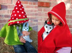 Hooded Cape & Forest Critter Woodland Combo Gift by SavageSeeds, $70.00