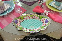 painted silver trays | have been experimenting with painting silver trays and this one ...