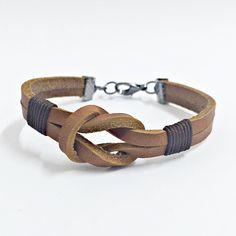 Pulseira masculina couro bracelet man men's fashin pulseiras moda homem