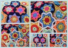 Christmas Flower Stars 2011, free pattern by Sue Pinner #crochet