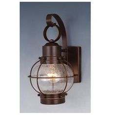 "Check out the Vaxcel OW21861BBZ Nautical 7"" 1 Light Outdoor Wall Sconce Light in Burnished Bronze"