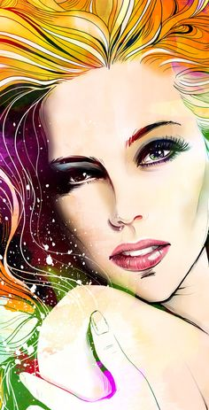 Red Hair Girl by Anna Ulyashina - illustrator, via Behance