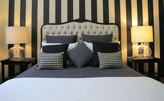 Striped feature wall