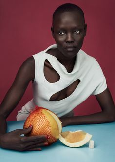 EDITORIAL: Grace Bol in Luncheon Magazine #3 Spring 2017 by Solve Sundsbo — Sunrise Market — Photography: Solve Sundsbo, Model: Grace Bol, Styling: Mattias Karlsson, Hair: Chisato Yamamoto, Make-Up: Polly Osmand, Set Design: Andy Hillman.