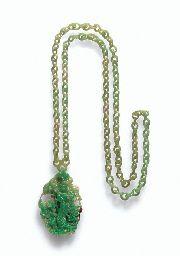 Apple Green Jadeite Necklace & Pendant From Christies.com