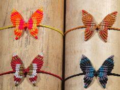 Braccialetto macramè farfalla di macramex su Etsy.