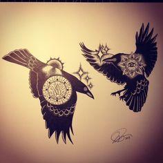 huginn and muninn tattoo | Huginn and Muninn (2013)