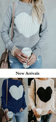 7a6b2c50a8  sweater  womensfashion  newarrivals  Poppoly  valentinesday Fall Winter  Outfits