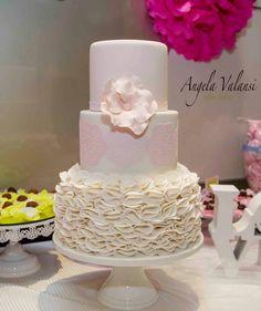 Pink, White Petal Cake