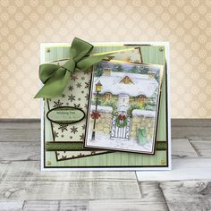 Card created using Hunkydory Crafts' Primrose Lane at Christmas Craft Stack