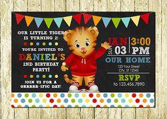 Daniel tigre impreso pizarra invitaciones por LittlePartyDesigns