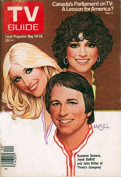 "Richard Amsel TV Guide Cover, May 20, 1978, ""Three's Company"""