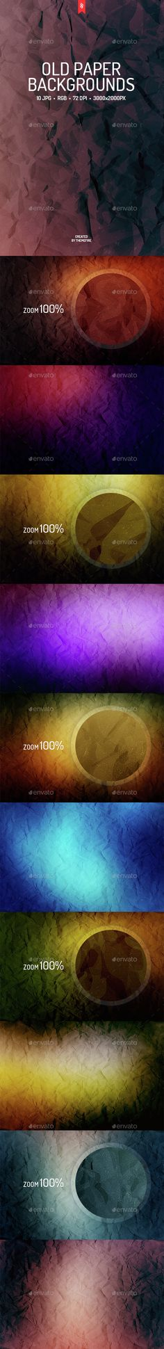 10 Old Paper Backgrounds. Download here: http://graphicriver.net/item/10-old-paper-backgrounds/14964210?ref=ksioks