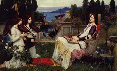 TICMUSart: Saint Cecilia - Henry Ryland (1895) (I.M.)