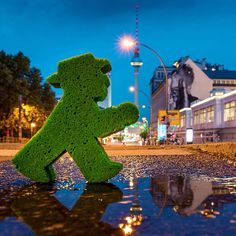 "Last one of my #AmpelmannStreetArt series! It's called ""the Wrinkles of a City"" Check it out :D #LittleGreenMan #AmpelmannWorld #FollowAmpelmann #ampelmannLifestyle #Berlin"