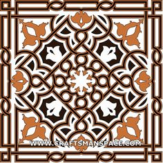 "Arabesque from the Great Mosque in Damascus.   FREE ""PERSONAL USE"" DWG, SVG, EPS FILES."