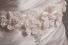 Ivory Bridal Sash Wedding Belt with Handmade by brendasbridalveils, $124.95
