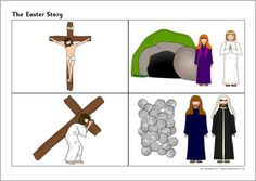Easter story sequencing sheets - colour (SB4642) - SparkleBox