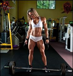 I can imagine the legs days it took her to grow those quads!!