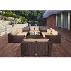 Atlantic Lexington Deluxe 5-piece Deep Seating Set with Sunbrella