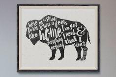 Buffalo Love SignHome Sweet HomeBuffalo NYBuffalo SignBuffalo Art