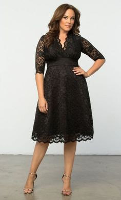 27 Plus Size Wedding Guest Dresses {with Sleeves} - Plus Size Fashion for Women . Plus Size Wedding Dresses With Sleeves, Dresses For Apple Shape, Cocktail Dresses With Sleeves, Dresses To Wear To A Wedding, Plus Size Dresses, Plus Size Outfits, Dress Wedding, Long Dresses, Tunic Dresses