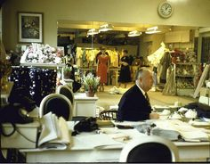 Christian Dior sitting, photo by Loomis Dean, 1957.