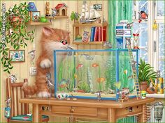 прикольные рисунки котов-aqua