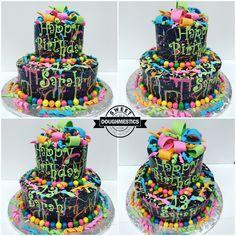 Paint splatter Cake by Sweet Doughmestics