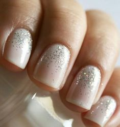 You're probably busy deciding on colors and wedding party members, and you may have already started thinking about hair and makeup. While you're at it, you should definitely check out these gorgeous bridal nails! If adding gems to your nails is too much but you still want to sparkle, consider glitter. The look is very elegant and is becoming more and more popular among new brides.