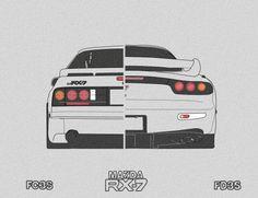 I made it♥ and Mazda Tuner Cars, Jdm Cars, Jetta A4, Fc Rx7, Toyota Supra Mk4, Jdm Wallpaper, Street Racing Cars, Car Goals, Mazda 6