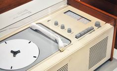 Old radio with turntable. :)