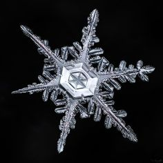 The center of a snowflake is almost always the most beautiful part. Even when…