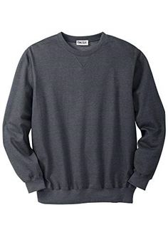 7a433889002e KingSize Men s Big   Tall Fleece Crewneck Sweatshirt Heather Charcoal Big-2Xl   fashion