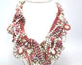 Doloris Petunia One of a Kind Custom Necklace (Example using lace from clients Grandmother's wedding dress)