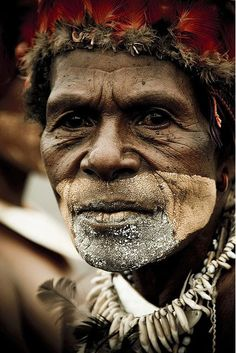 Papua New Guinea. I would love to sit and hear this man tell me about the years of his life.