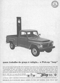 Pick-Up F-75 (1965) Jeep Willys, Jeep Pickup, Live Rock, Long Live, Pick Up, Offroad, Safari, Awesome, Vintage Cars