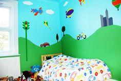 Transportation Kids Room Mural