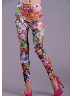 Blossom Spring Sexy Skinny Leggings in Floral Print