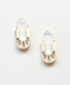Sterling silver geometric cutout Cuzco Earrings - Noonday Collection, $52
