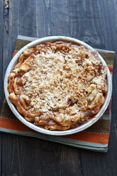 Caramel Apple Streusel Pie is the ultimate apple pie! From handletheheat.com
