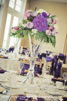 purple wedding centerpieces  | Vintage Design Co. // Purple Wedding Centerpieces 2