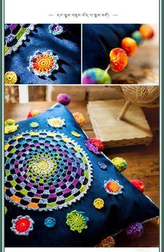 Crochet Home Decor, Cushions, Pillows, Yarn Crafts, Cushion Covers, Blanket, Crochet Cushions, Bedspread, Ornaments