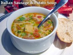 Italian Sausage & Potato Soup: Slow Cooker...Hearty and flavorful, it generates rave reviews before it is even served the rich and layered aroma fills the house as it cooks and has everyone clamoring for a bowl.