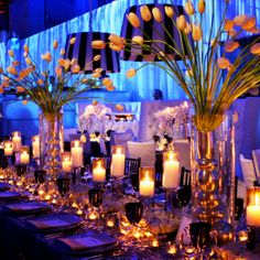 """""""old Hollywood glam"""" seriously could this wedding be more perfect? this is ridiculously gorgeous! my dream wedding!  Deana do you like the candles???"""