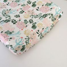 Girls Crib Bedding - Fitted Crib Sheets / Cactus Changing Pad Covers / Fitted Crib Sheet / Pink Green Nursery Bedding / Mini Crib Sheets
