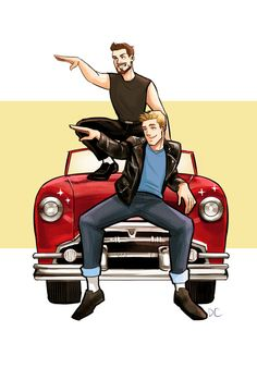 dchanberry:  Well this car could be systematic,hydromatic,ultramatic,Why couldn't it be grease lightning! I JUST REALLY WANTED TO DRAW A STONY GREASER AU BECAUSE OF GREASE LIVE, OKAY.