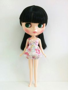 Pink Floral Top and Shorts for Neo Blythe & Licca by SKSungDesigns