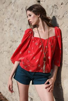 {Sweetheart Top made from vintage silk} by kristina...with thered slippers/shoes I just pinned...I say YES!