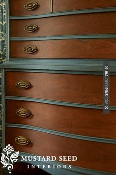 Yes - paint and wood stained dresser: Miss Mustard Seed | CHECK OUT MORE DRESSER IDEAS AT DECOPINS.COM | #dressers #dresser #dressers #diydresser #hutch #storage #homedecor #homedecoration #decor #livingroom